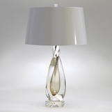 Jada Tall Glass Lamp | Amber