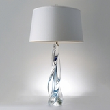 Jada Tall Glass Lamp | Blue
