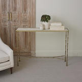 Jahari Marble Console Table | Brass