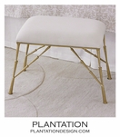 Jahari Upholstered Bench | Gold