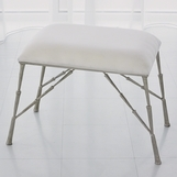 Jahari Upholstered Bench | Nickel