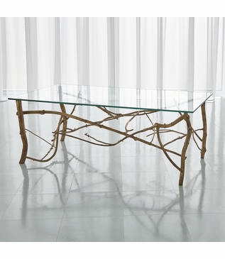 Jardine Coffee Table | Gold Leaf