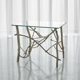 Jardine Side Table | Silver Leaf