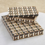 Jarrett Patterned Boxes | Bone & Horn