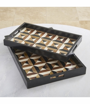 Jarrett Patterned Trays | Bone & Horn