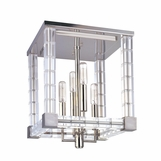 Javier Crystal Flush Mount | Nickel