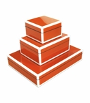 Jax Lacquered Boxes | Vibrant Orange