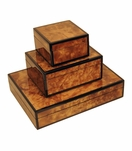 Jax Lacquered Boxes | Walnut Burl