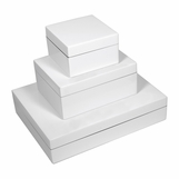 Jax Lacquered Boxes | White