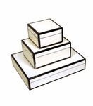 Jax Lacquered Boxes | White & Black Trim