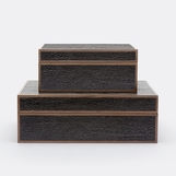 Jessen Textured Boxes Set | Black