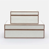 Jessen Textured Boxes Set | Ivory