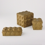 Jester Ceramic Boxes | Gold