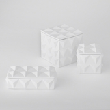 Jester Ceramic Boxes | White