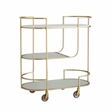Jody Metal Bar Cart | Brass