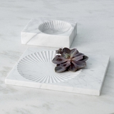 Jolene Marble Trays | White