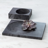 Jolene Marble Trays | Black