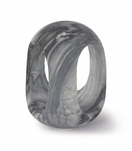 Julian Tall Marble Object | Black