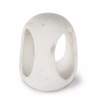 Julian Tall Marble Object | White