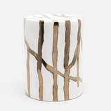 Kasoy Ceramic Stool | Gold