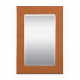 Kelly Orange Leather Mirror