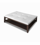 Kennedy Rectangular Coffee Table, Tufted