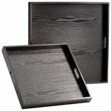 Kenneth Wood Trays Set | Ebony
