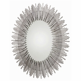 Kentwood Oval Wall Mirror   Silver