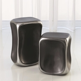 Kero Ceramic Side Tables | Platinum