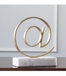 "Keystroke Gold Sculpture | ""At"""
