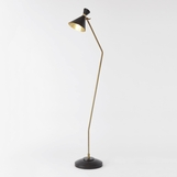 Kinsey Bronze & Brass Floor Lamp