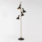 Kinsey Bronze & Brass Torchiere Floor Lamp