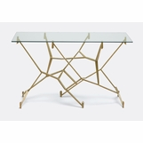 Kintsugi Console Table | Antique Brass