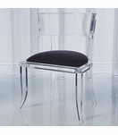 Klismos Lucite Side Chair | Black