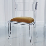 Klismos Lucite Side Chair | Camel