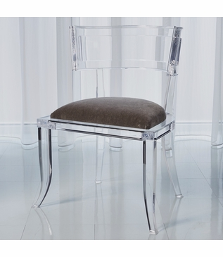Klismos Lucite Side Chair | Grey
