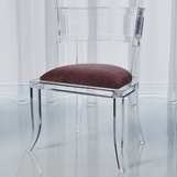 Klismos Lucite Side Chair | Purple