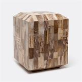 Klondike Petrified Wood Stool | Light