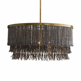 Koju Wood Chandelier | Dark Grey