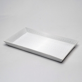 Komodo Textured White Porcelain Tray