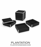 Lacquer Stacked Jewelry Box | Black