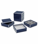 Lacquer Stacked Jewelry Box | Navy