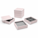 Lacquer Stacked Jewelry Box | Pale Pink
