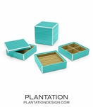 Lacquer Stacked Jewelry Box | Turquoise
