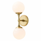 Laird Double Sconce | Antique Brass