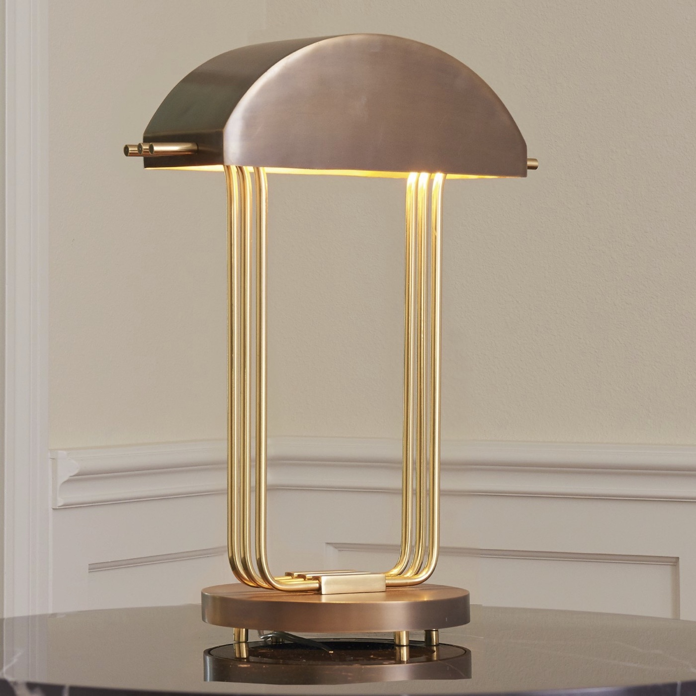 Langdon Table Lamp Bronze Brass