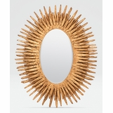 Lannister Oval Mirror | Gold