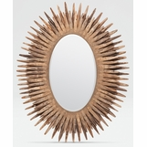 Lannister Oval Mirror | Natural Teak