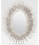 Lannister Oval Mirror   Silver