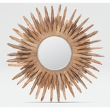 Lannister Starburst Mirror | Natural Teak